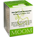 MOOM Polycotton Waxing Strips for Women, Hair Removal Strips Specially Engineered for Maximum Hair Removal – Perfect for…