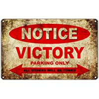 Mulica Notice Victory Motorcycles Parking Only Placa