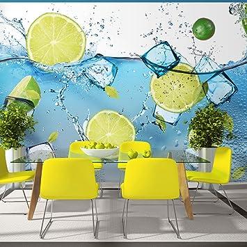Fototapete küche grün  murando - Fototapete Küche 250x175 cm - Vlies Tapete - Moderne ...