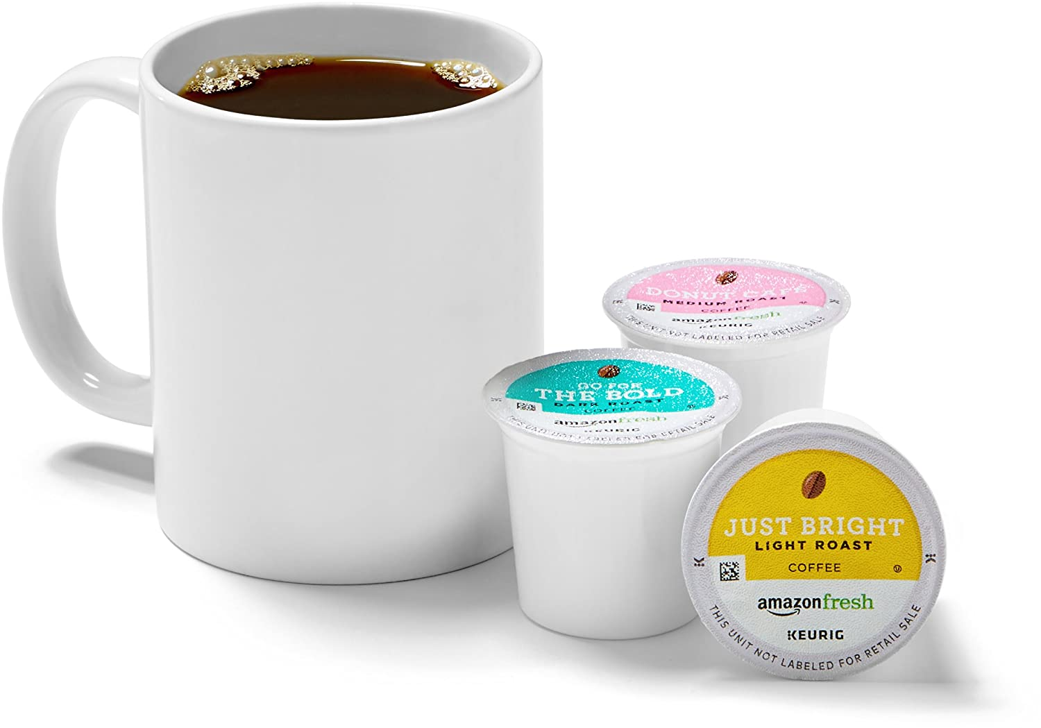 AmazonFresh 60 Ct. Coffee Variety Pack, 3 Flavors, Keurig K-Cup Brewer Compatible