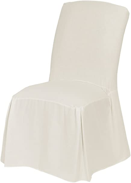 Attrayant Classic Slipcovers CSI Cotton Duck Long Dining Chair Slipcover, White