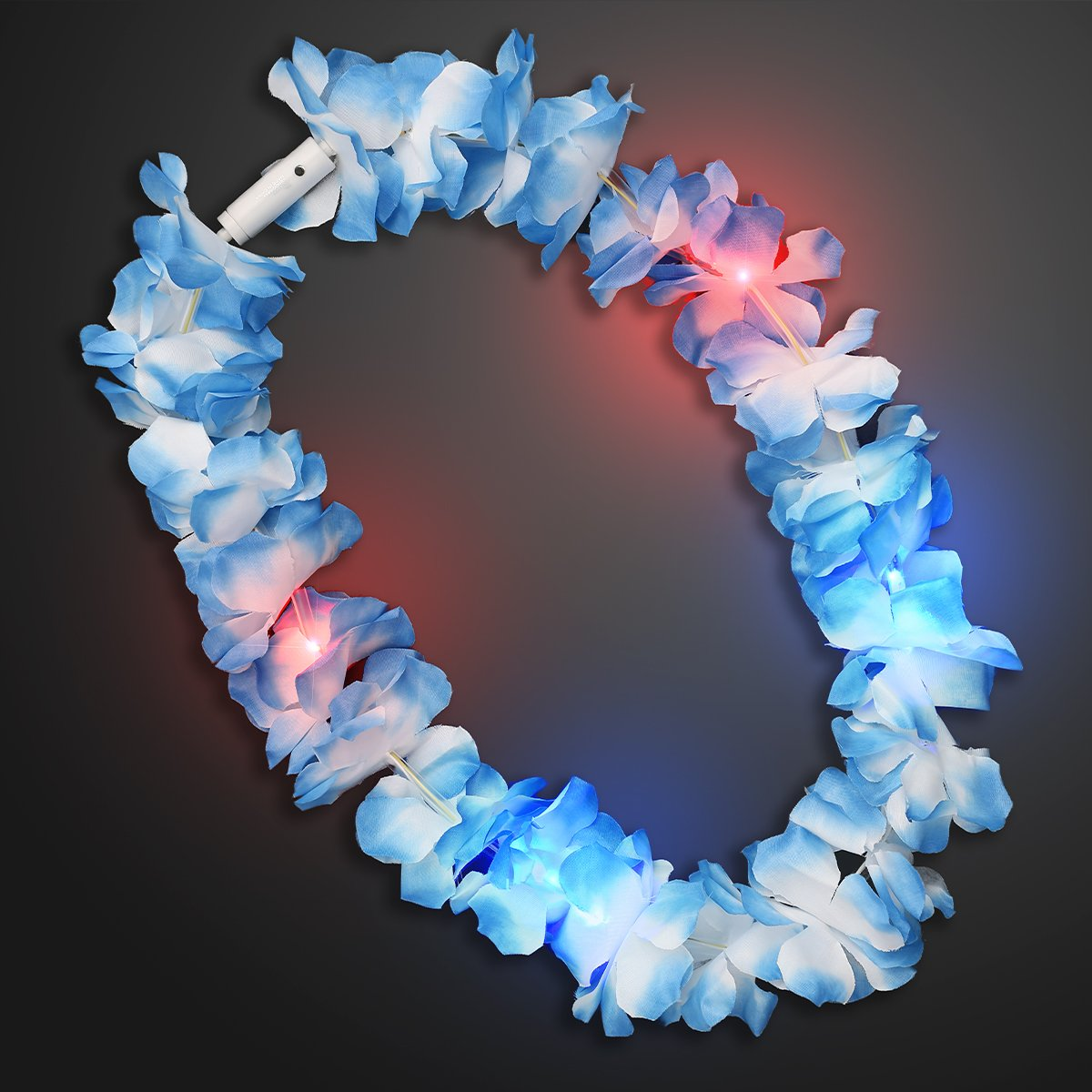 Large Assorted Light Up Hawaiian Leis with Flashing LED Lights (Set of 24) by FlashingBlinkyLights (Image #2)
