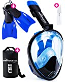 [4-Piece Set] Snorkel Set - Snorkeling Gear - Snorkel Mask Full Face - Snorkeling Set