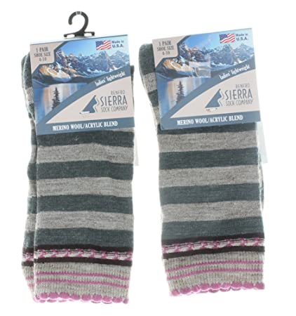 Lana de merino Renfro sierra Sock Co Lady calcetines 2 pares SZ 4 – 10 Verde