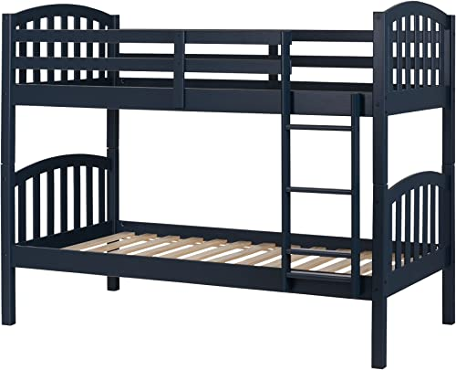 South Shore Summer Breeze Solid Wood Bunk Beds, Navy Blue,