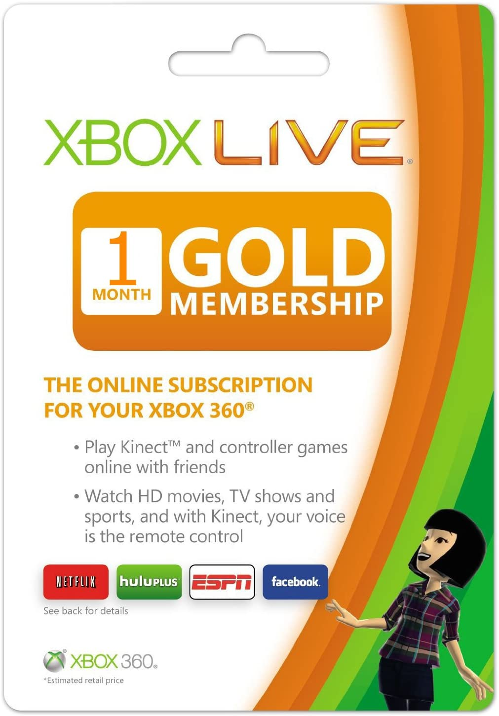 Amazoncom Xbox Live  Month Gold Membership Card Video Games - Us zip code for hulu plus