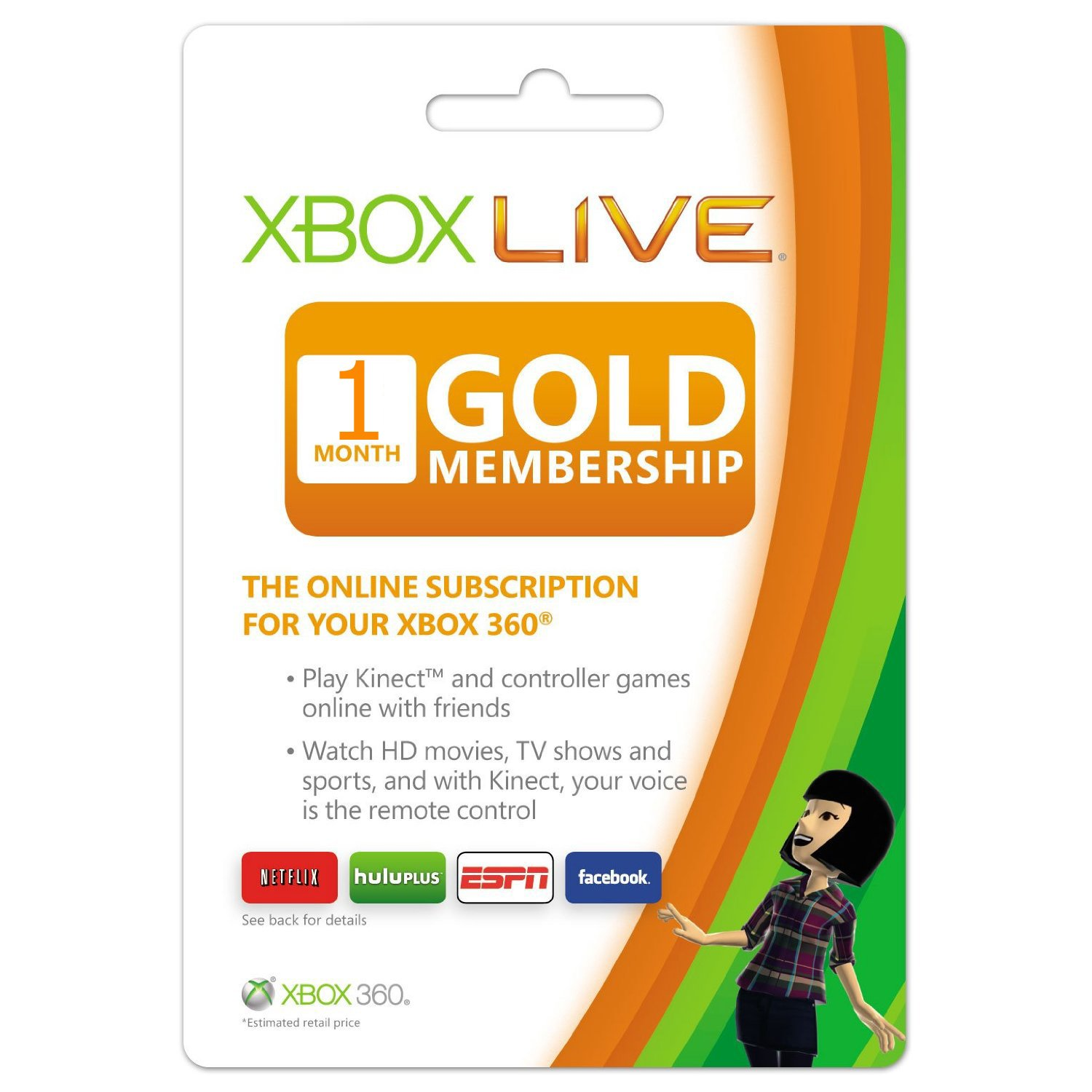 Amazon com: Xbox Live 1 Month Gold Membership Card: Video Games