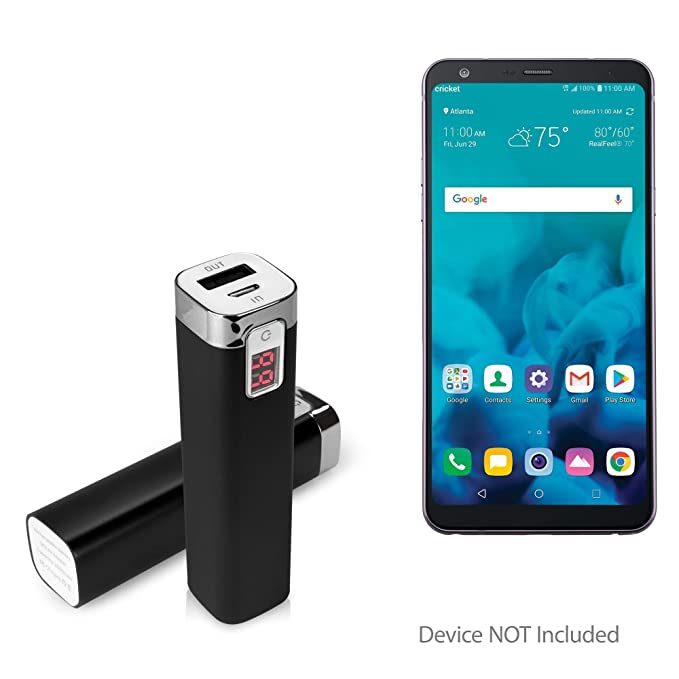 LG Stylo 4 Charger, BoxWave [Rejuva Power Pack] 2600 mAh Compact Portable  Power Bank Charger for LG Stylo 4 - Jet Black