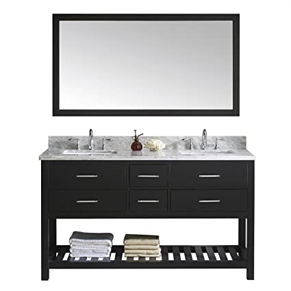 Virtu Usa Md 2260 Wmsq Es 010 Transitional Double Sink Bathroom
