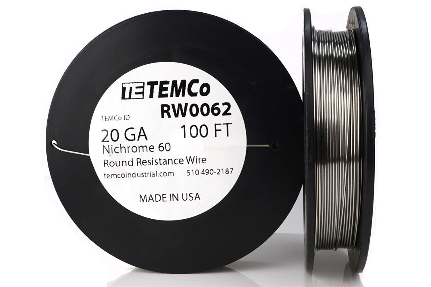 TEMCo Nichrome 60 series wire 20 Gauge 8 oz (173 ft) Resistance AWG ...