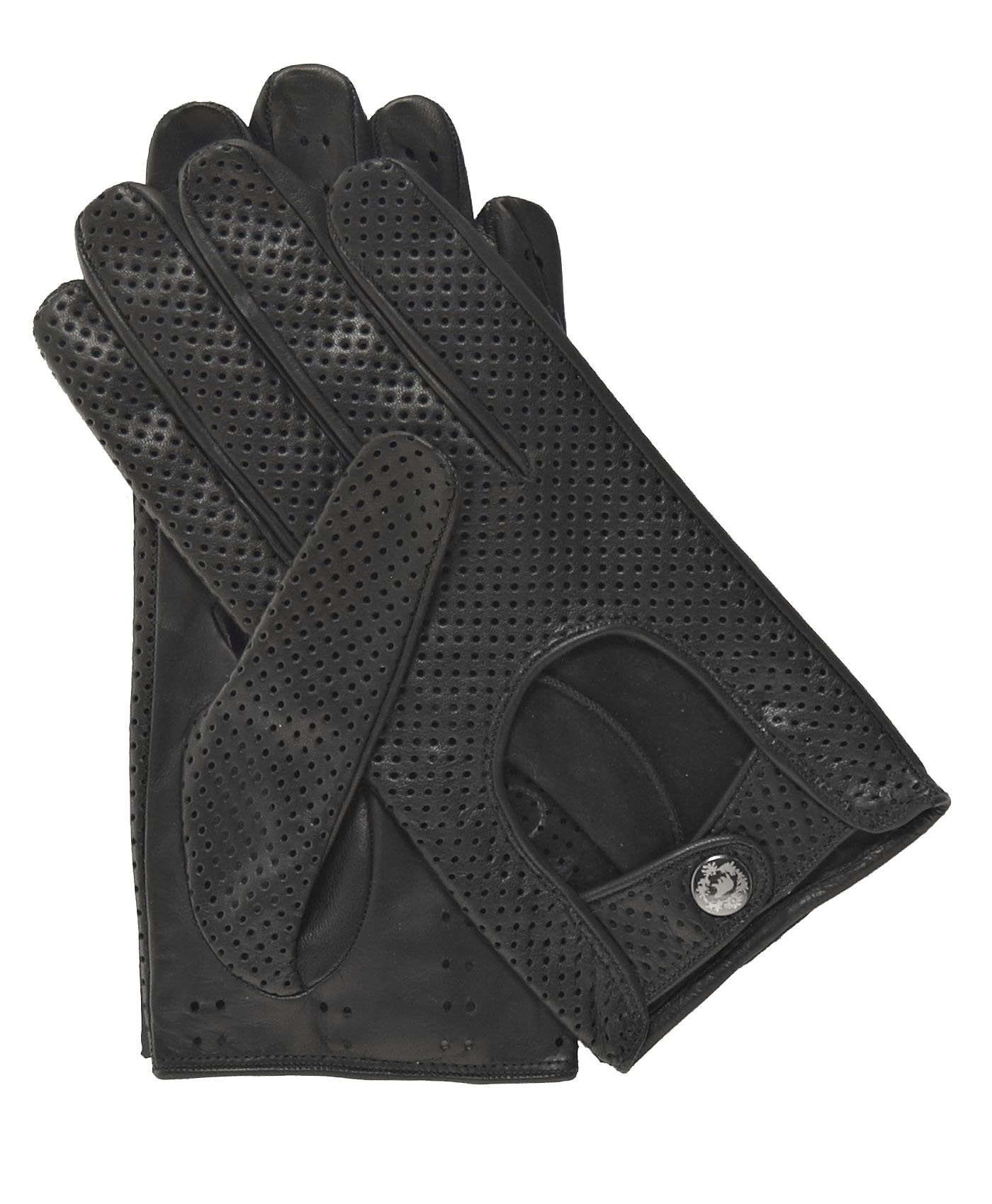 Fratelli Orsini Men's Ventilated Leather Driving Gloves Size 9 Color Black