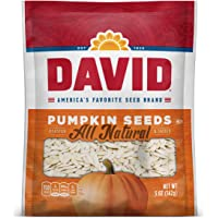 DAVID Roasted and Salted Pumpkin Seeds, 5 oz, Keto Friendly, 12 Pack