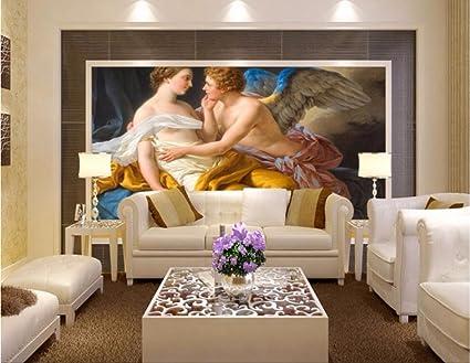 Bzdhwwh Custom Mural 3d Wallpaper Love Kiss European Art Picture