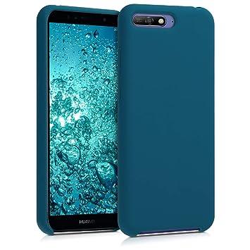 kwmobile Funda para Huawei Y6 (2018) - Carcasa de [TPU] para teléfono móvil - Cover [Trasero] en [petróleo Mate]