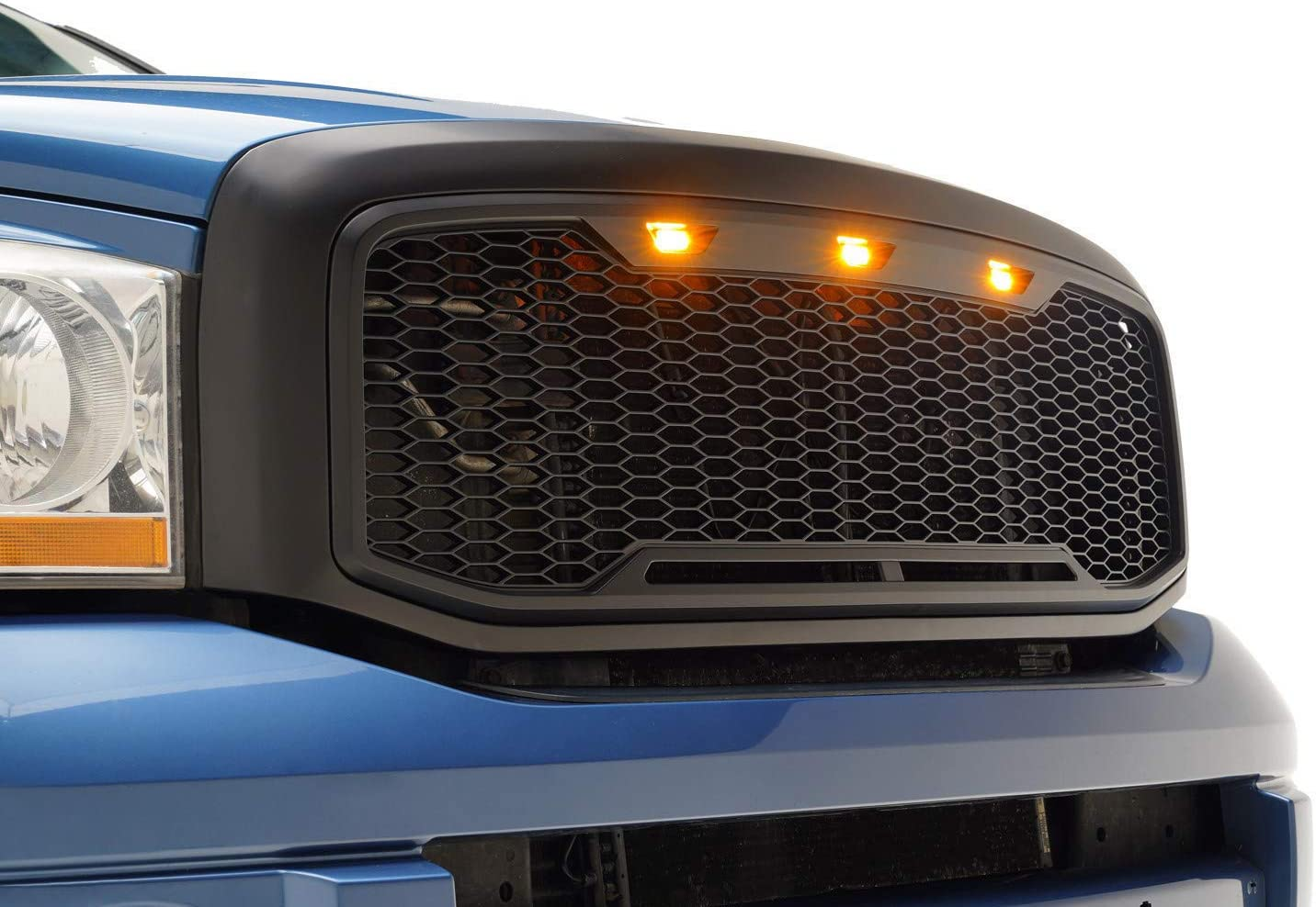 amazon com eag replacement upper abs grille led grill with amber led lights matte black fit for 06 08 dodge ram 1500 06 09 dodge ram 2500 3500 automotive eag replacement upper abs grille led grill with amber led lights matte black fit for 06 08 dodge ram 1500 06 09 dodge ram 2500 3500