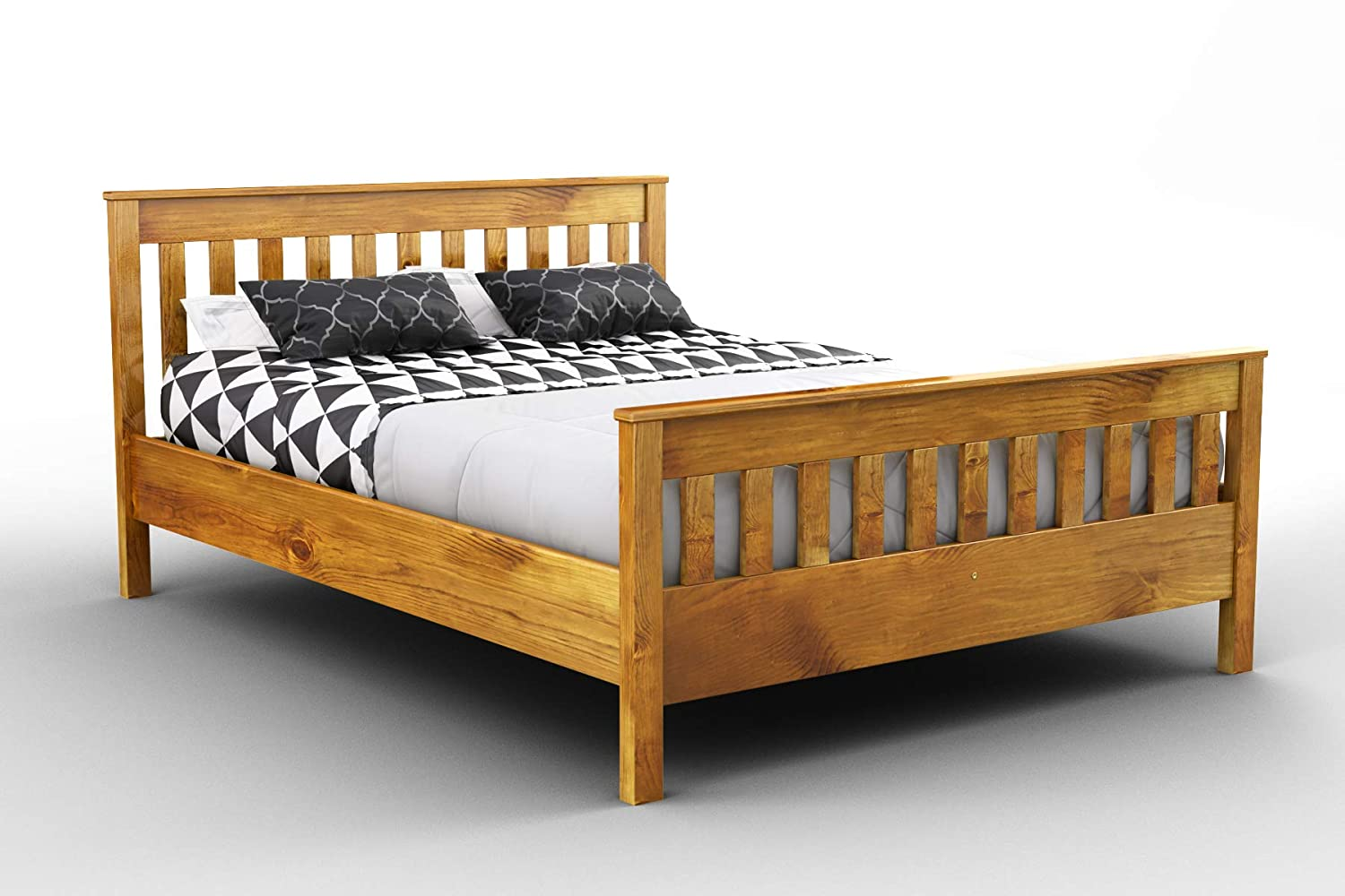 Wooden Pine Bed Frame With Underbed Drawer Set F16 Kingsize