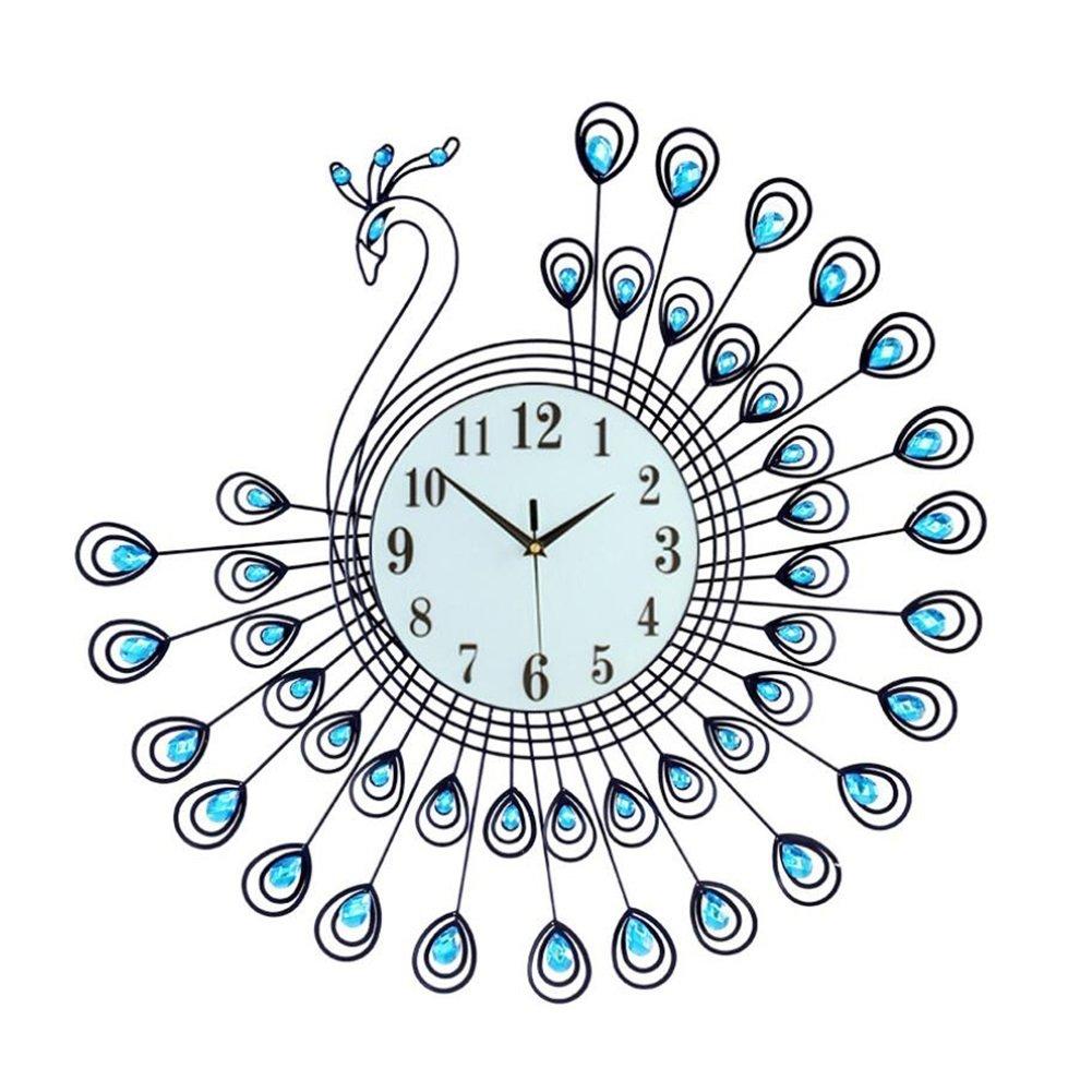 クォーツウォールクロック/現代/現代ガラス/金属屋内、クリスタルブリンズ金属ウォールクロック、単三壁時計 (サイズ : 55*53cm Small) B07DN7M3T9 55*53cm Small 55*53cm Small