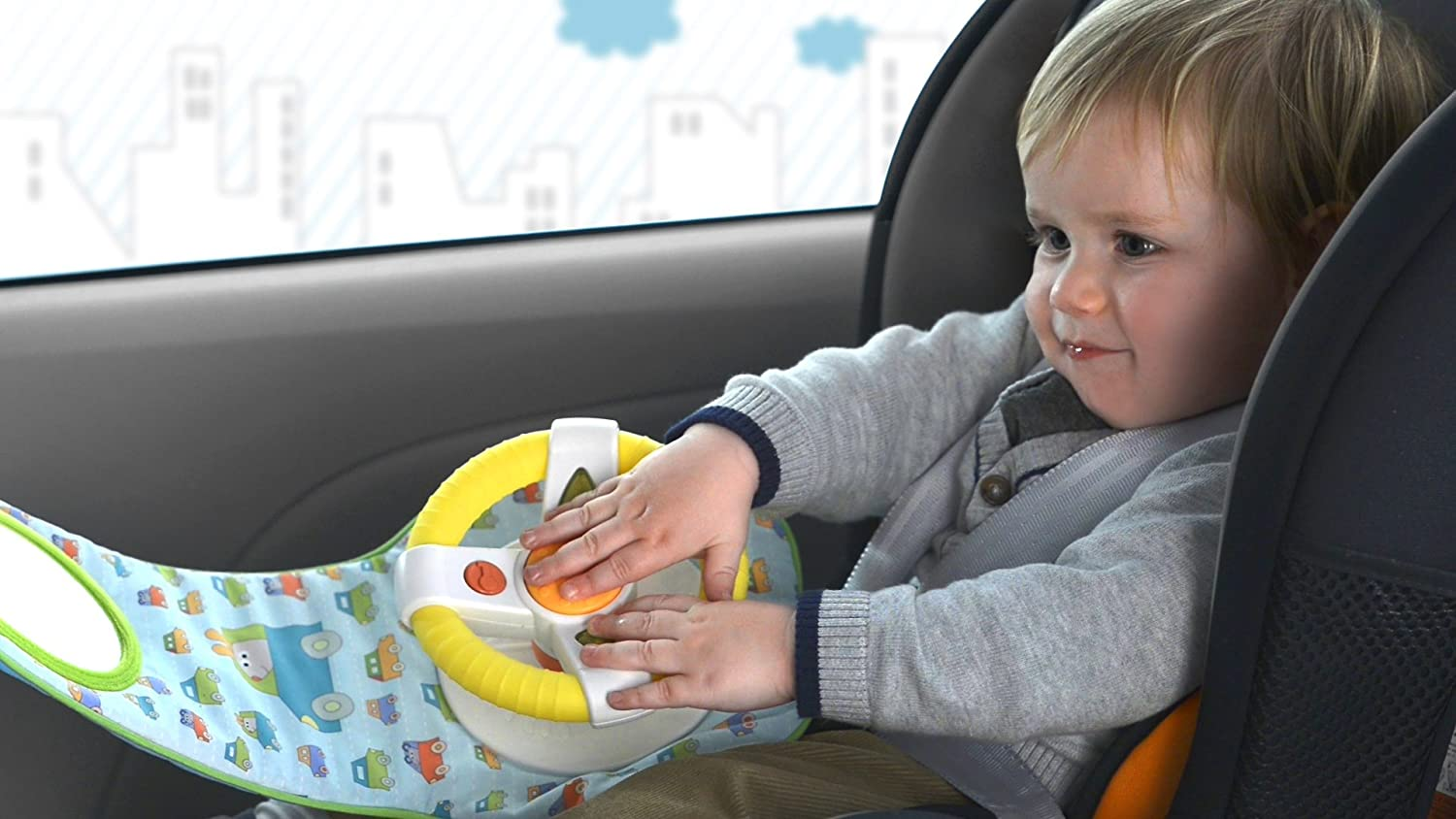 Infant And Baby Car Wheel Toy Seat To Entertain Stimulate For Front Facing Amazonca