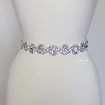 3eaad6a8b Amazon.com: LISALI Vintage Handmade 1 Yard Pearl Crystal Rhinestones ...