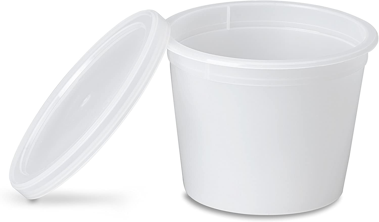 Deluxe 4oz Deli Food Storage Containers Designed for Fridge and Freezer (100 Pack)