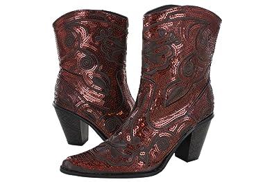 6f0d16eba Amazon.com | Helens Heart Women's Sparkle Sequin Bling Short Western ...