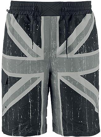 8b89c65ccc Brandit Swimshorts Union Jack Swim Trunks Grey-Black XXL-3XL: Amazon ...