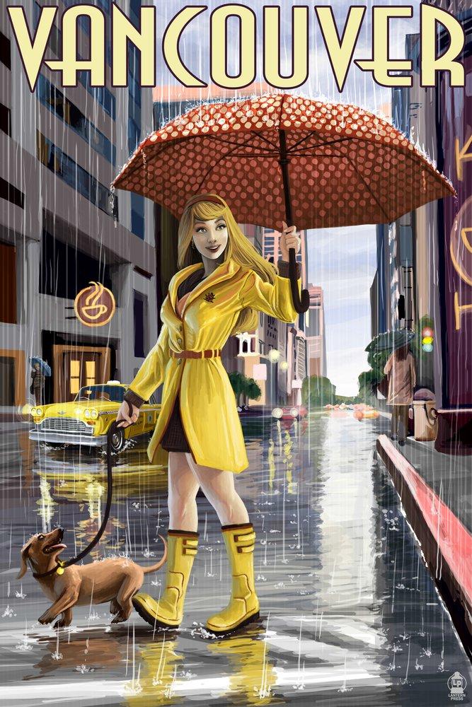 【即日発送】 Rain B00N5CJPA6 Girl Pinup – Print バンクーバー 11、BC 11 x 14 Matted Art Print LANT-44563-11x14M B00N5CJPA6 12 x 18 Art Print 12 x 18 Art Print, 松波動物メディカル通信販売部:a3d86ece --- mcrisartesanato.com.br