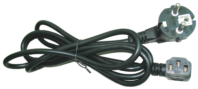 Gembird PC-186A-VDE - Cable de alimentació n С15, 1.8m, 10A, color negro