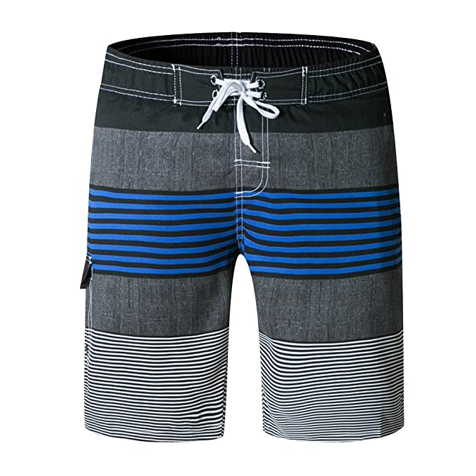 ISSHE Bañadores Natacion Hombre Bañador Surfero Corto Hombres Traje De Baño  Playa Hombre Bañadores Surferos Rayas Pantalones Cortos Baño Bóxers Shorts  ... f58b9c44558