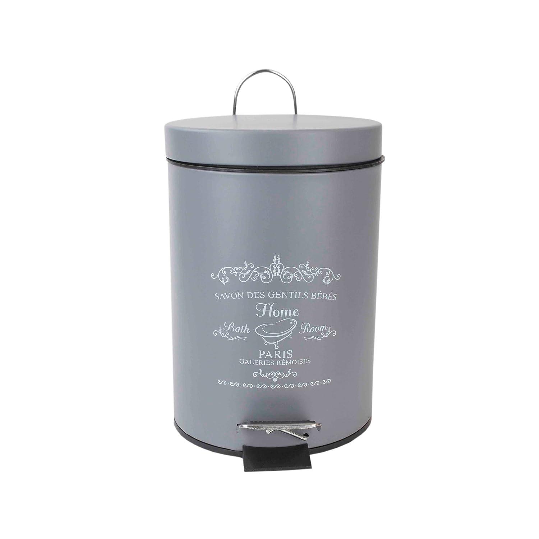 Home Basics Paris MATT Toilet Brush Holder, Grey HDS Trading Corp. TB41691