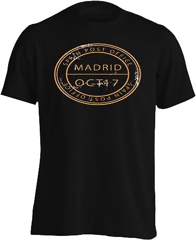 INNOGLEN Nuevo Sello De La Oficina De Correos De España Camiseta de los Hombres m253m: Amazon.es: Ropa y accesorios