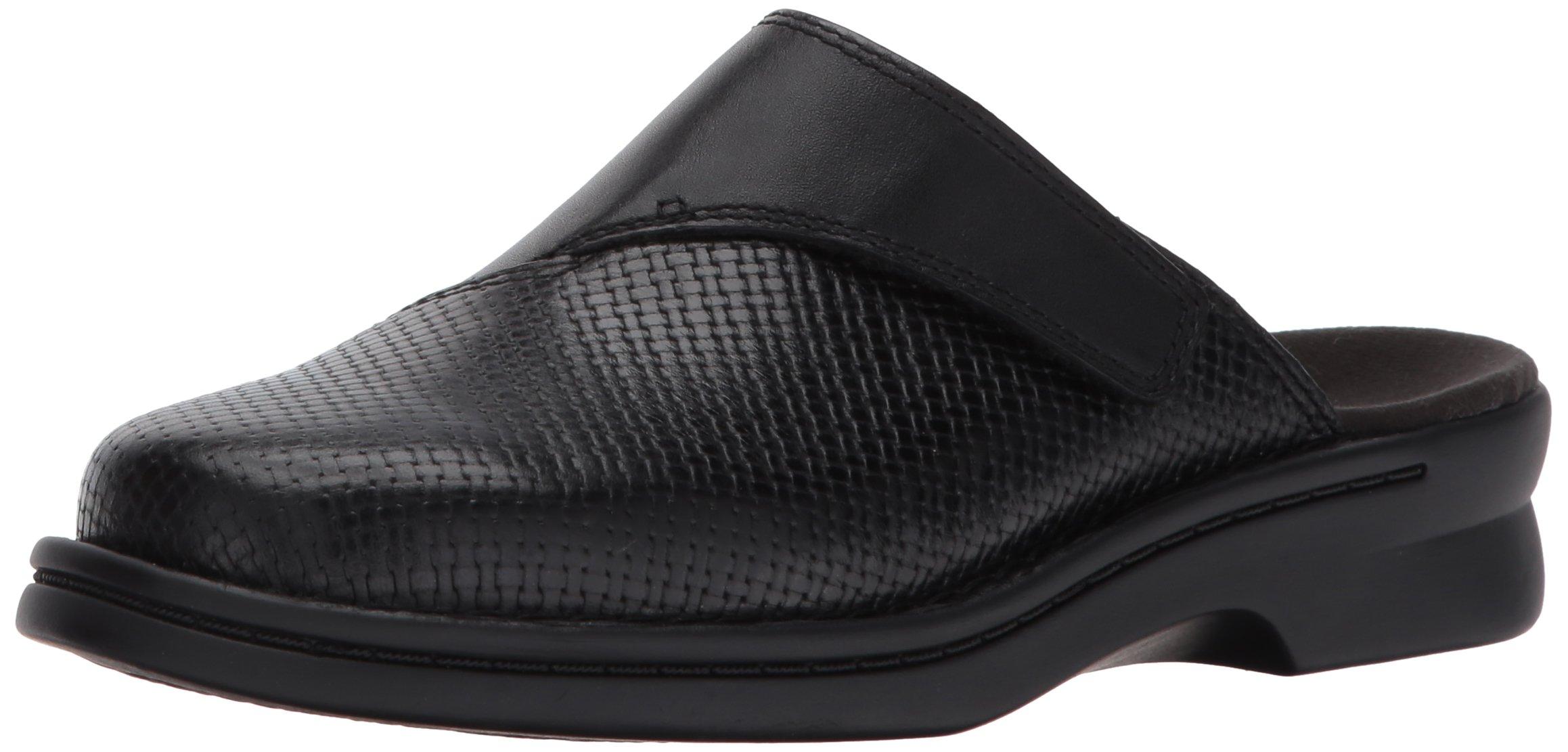 CLARK'S Women's Patty Tayna Mule, Black Leather, 8.5 W US