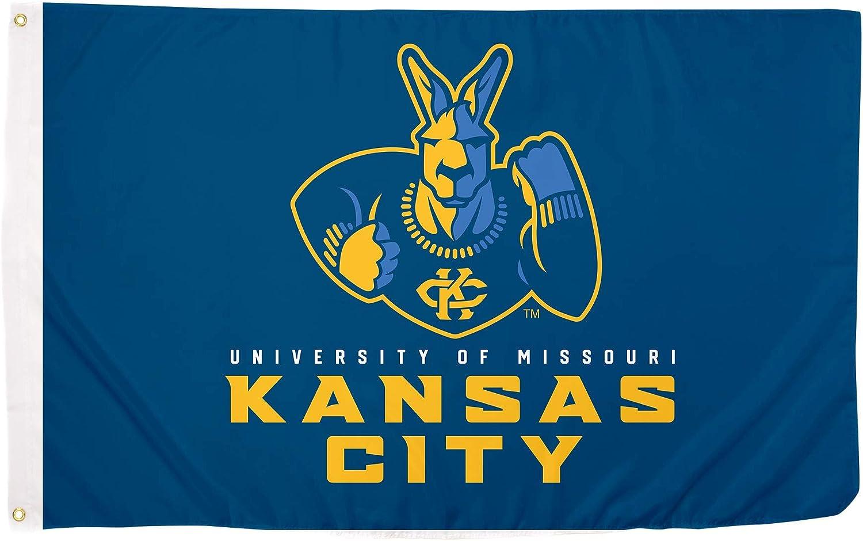 Desert Cactus University of Missouri-Kansas City UMKC Kangaroos NCAA 100% Polyester Indoor Outdoor 3 feet x 5 feet Flag