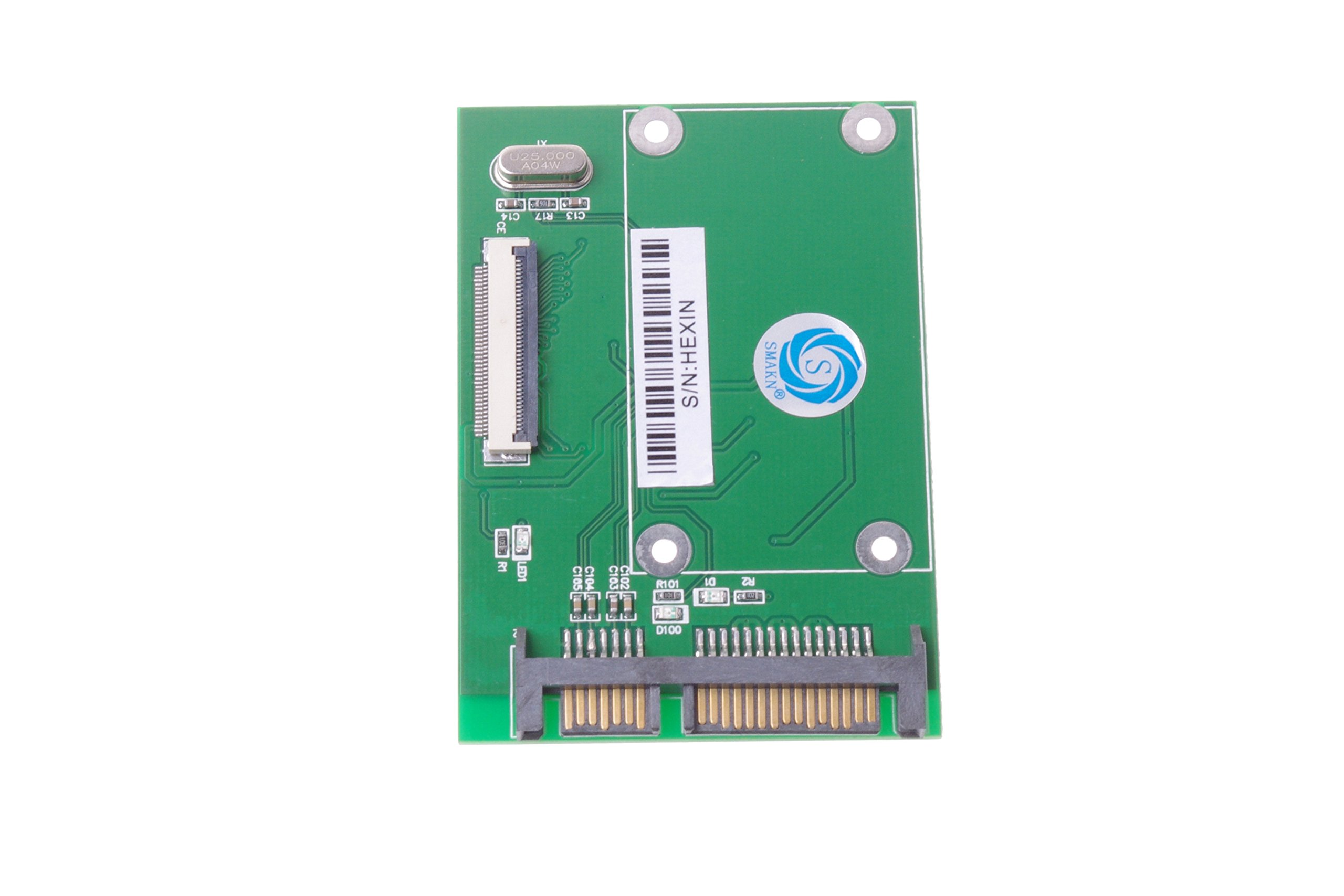 SMAKN® 1.8'' CE ZIF HDD to SATA Serial ATA 7+15Pin 22-Pin Adapter Converter by SMAKN