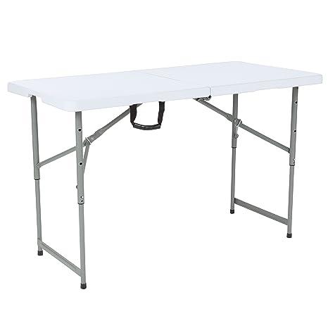 amazon com flash furniture 24 w x 48 l height adjustable bi fold