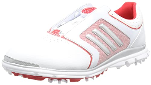 adidas Adistar Tour B Scarpe da Golf Donna Bianco White/Matte Silver/Ray Red