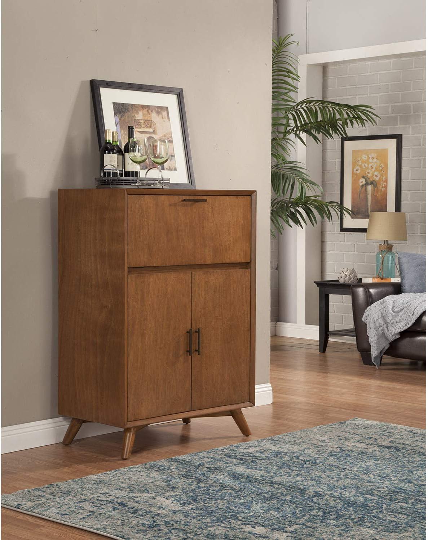 Alpine Furniture Flynn Bar Cabinet, Acorn