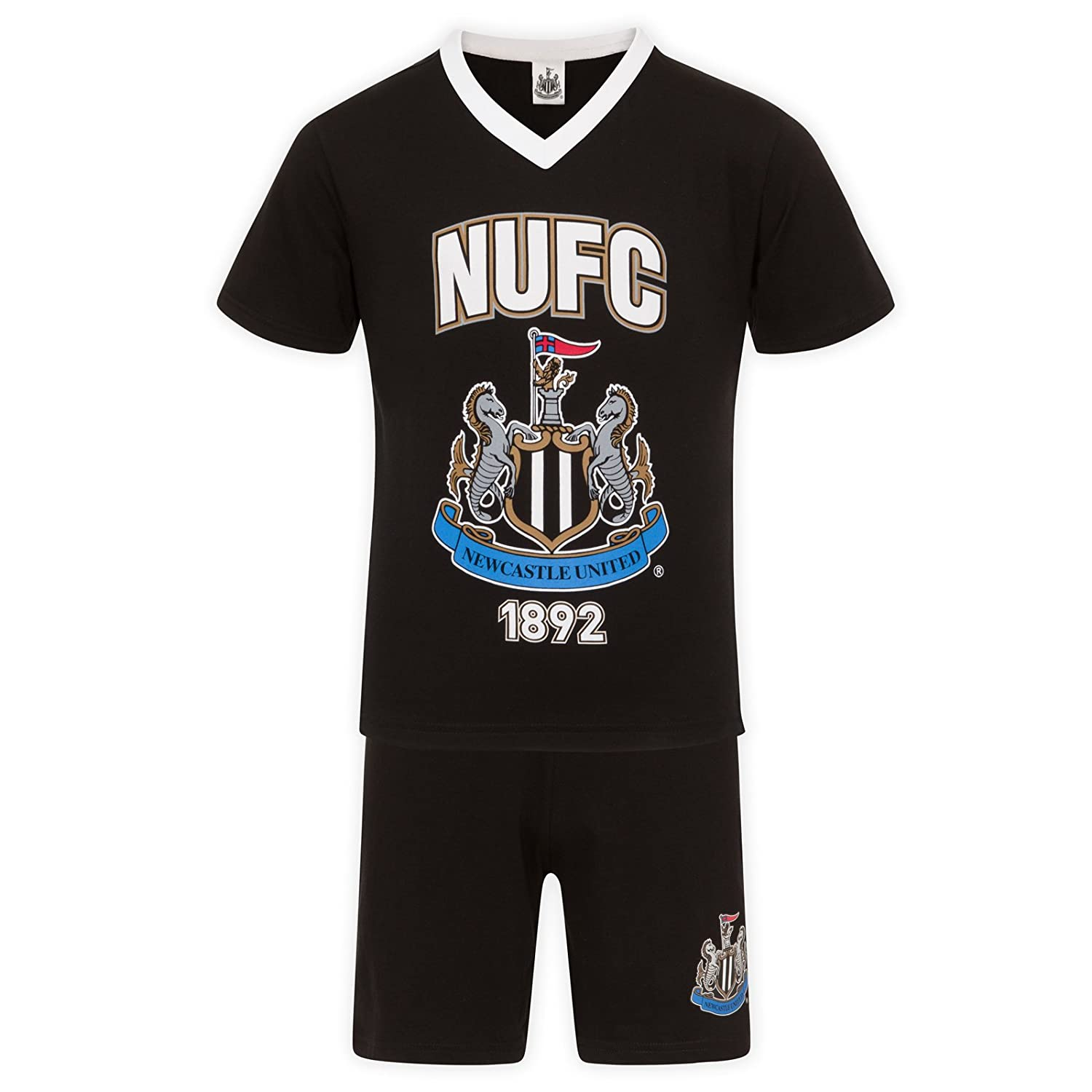 Newcastle United FC Official Football Gift Mens Short Pyjamas Loungewear