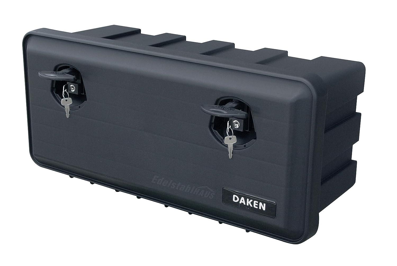 Staubox Werkzeugkiste Daken J040 Daken Just Werkzeugkasten Gurtkiste Deichselbox Staubox LKW Staukasten aus Kunststoff 750x350x300mm 40 ltr Unterbaubox f/ür Nutzfahrzeuge Anh/änger