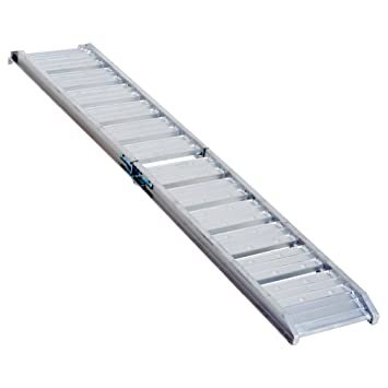 Homcom - Rampa plegable de aluminio para silla de ruedas ...