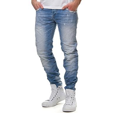üppiges Design gesamte Sammlung super service Justing Herren Jeans Hose Slim Fit ST-01055#S, Hosengröße:33 ...