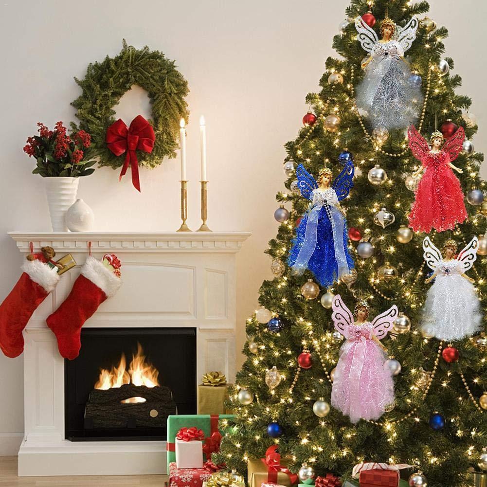 Simpatico Albero di Natale Compleanno Decorazione per la casa Hifuture Ciondolo a Forma di Bambola di Natale Angelo Angelo Regalo per Natale Rosa Bambola da Ragazza Miele