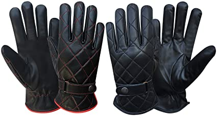 Full Finger High Quality Soft Luxury Leather Driving Gloves Slim Fit Chauffeur Kleidung & Accessoires