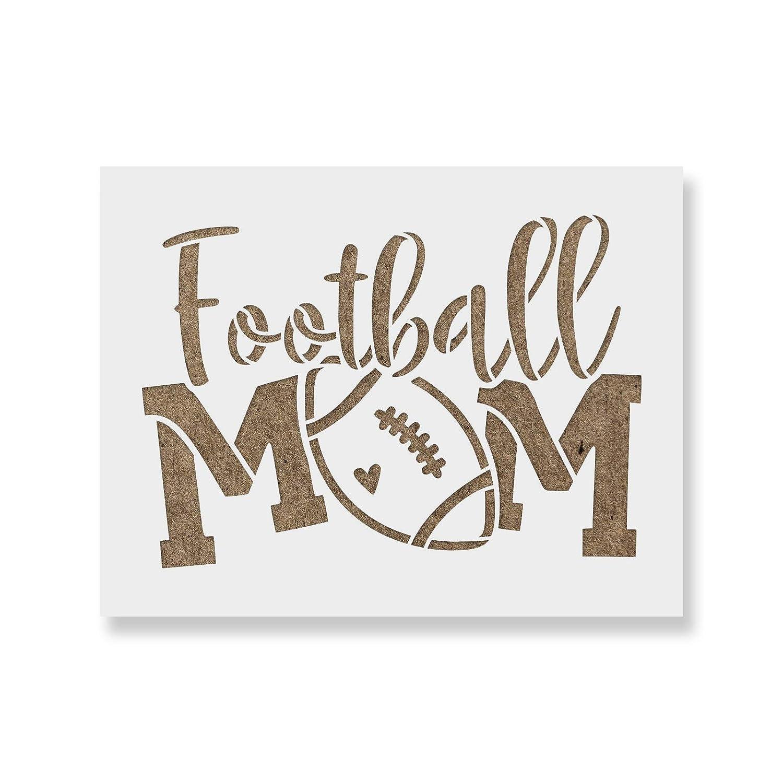 Football Mom ステンシルテンプレート - 再利用可能なステンシル S&Lサイズのペイント用 55