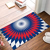 Rug Entrance Chic Aztec Abstract Ethnic Tribal Pattern Bathroom Doormat Carpet Indoor Mat Anti Skid Shag Shaggy Bath Shower Mats Carpet 15.7 X 23.5 inches Two Sides Printing