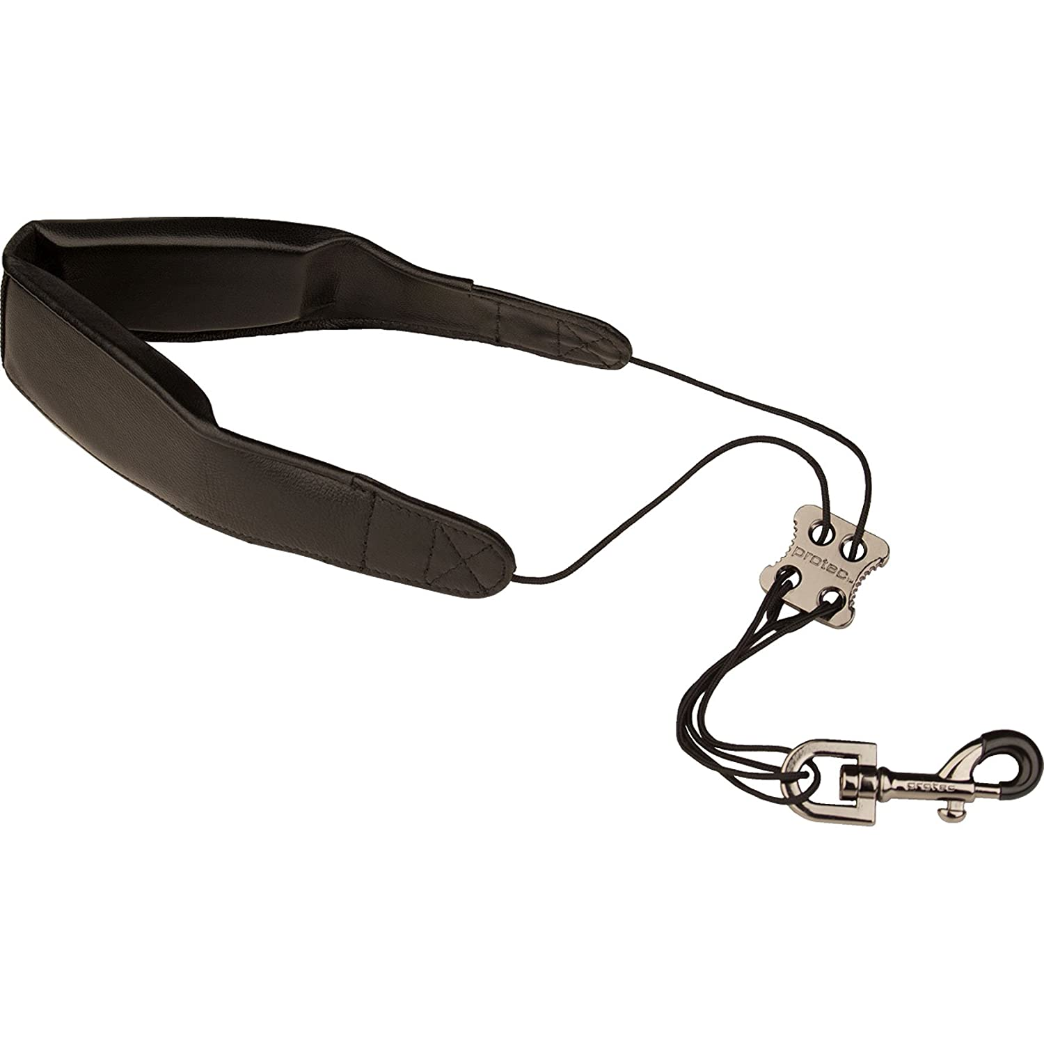 Protec 24-Inch Leather Less-Stress Saxophone Neck Strap with Deluxe Metal Trigger Snap L305M