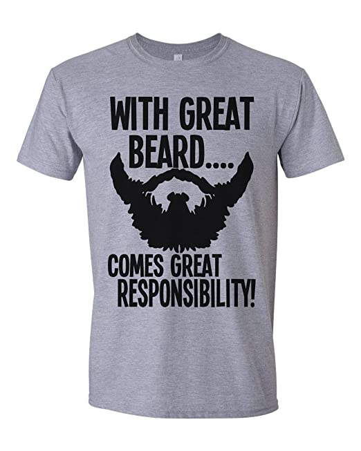 0f2e10c5 with Great Beard Comes Great Responsibility Mens T-Shirt [Apparel ...