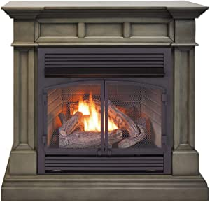 Duluth Forge DFS-400R-2GR Dual Fuel Ventless Gas Fireplace-32,000 BTU, Remote Control, Slate Gray Finish