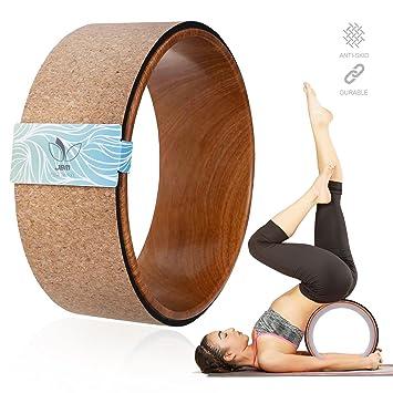 JBM corcho Yoga rueda Yoga Prop para cómodo Backbend ...