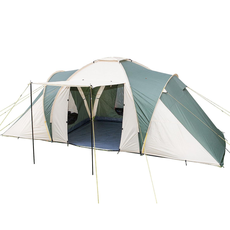 Skandika Daytona Dome/Family Tent with 3 Sleeping Cabins 3000 mm Water Column  sc 1 st  Amazon UK & ProAction 6 Man 2 Room Tent.: Amazon.co.uk: Sports u0026 Outdoors